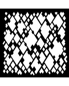 Creative Expressions Woodware 6 x 6 Stencil - Diamond Mesh