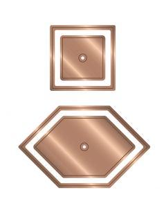 """Gemini Multi Media English Paper Piecing 1"""" Die - Honeycomb and Square Die Set"""