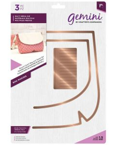 Gemini Multi Media Bag Making Metal Die - Round Clutch Bag and Tassel Set