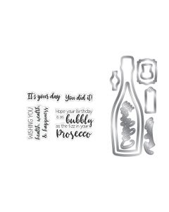 Gemini Shaker Card Stamp and Die Set - Prosecco Celebration
