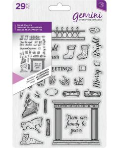 Gemini Dimensionals Clear Stamp - Fireplace Accessories
