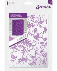 Gemini 5 x 7 Embossing Folder - Holly Vine Swirls