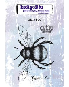 IndigoBlu A6 Red Rubber Stamps - Giant Bee