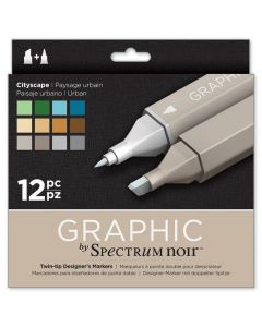 Graphic by Spectrum Noir 12 Pen Set - Cityscape