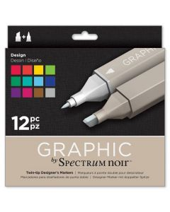 Graphic by Spectrum Noir 12 Pen Set - Design