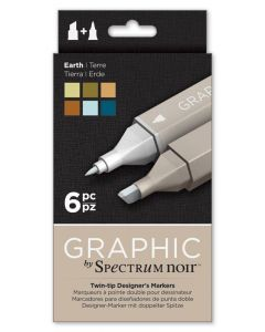 Graphic by Spectrum Noir 6 Pen Set - Earth