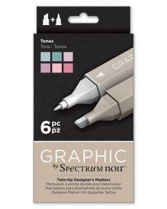 Graphic by Spectrum Noir 6 Pen Set - Tones