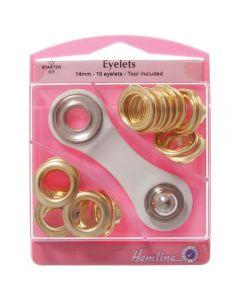 Hemline 14mm (G) Eyelets Starter Kit - Gold
