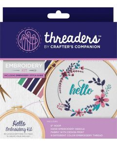 Threaders Embroidery Kit - Hello