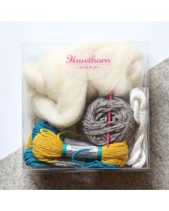 Hawthorn Handmade Weaving Supply Pack - Teal and Mustard