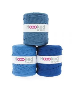 Hoooked Zpagetti Mid Blue Shades - 1 Ball