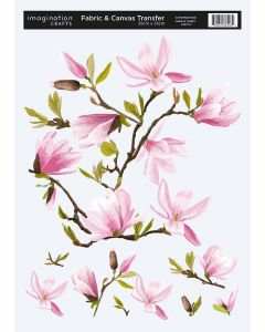 Imagination Crafts Fabric & Canvas (25x35cm) Transfer - Magnolia