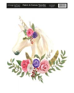 Imagination Crafts Fabric & Canvas (25x35cm) Transfer - Unicorn