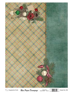 Imagination Crafts A4 Rice Papers - A4509 Contemporary Christmas