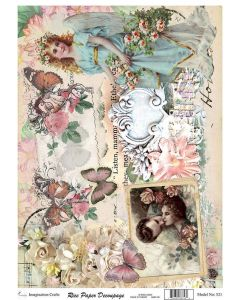 Imagination Crafts A4 Rice Papers - A4521 Guardian Angel