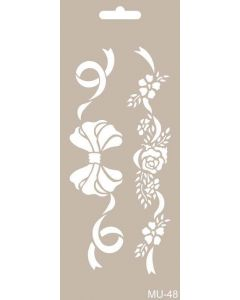 Imagination Crafts Art Stencils 25cm x 10cm - Bows