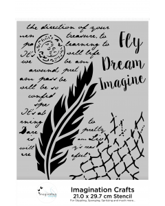 Imagination Crafts A4 Stencil - Fly and Dream