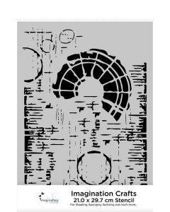 Imagination Crafts A4 Stencil - Sunburst Texture