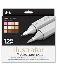 Illustrator by Spectrum Noir 12 Pen Set - Figure