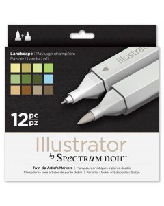 Illustrator by Spectrum Noir 12 Pen Set - Landscape