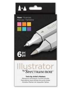 Illustrator by Spectrum Noir 6 Pen Set - Hues