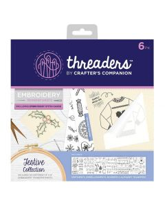 Threaders Embroidery Transfer Sheets - Festive