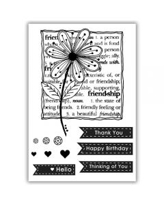 Julie Hickey A6 Stamp - Friendship Blooms
