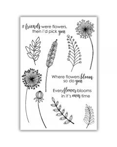 Julie Hickey A6 Stamp - Garden Treasures