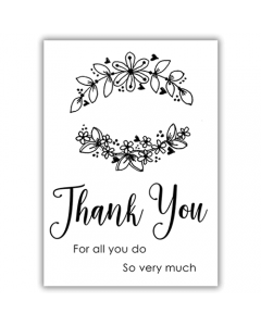 Julie Hickey Essential Sentiments A7 Stamp - Thank You
