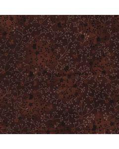 John Louden 100% Flutter Cotton Fabric - Chocolate