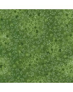 John Louden 100% Flutter Cotton Fabric - Olive