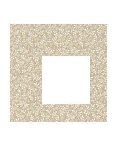 John Louden 100% Cotton Poplin Small Tone on Tone Leaf Designs - Beige