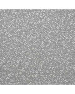 John Louden 100% Cotton Poplin Small Tone on Tone Floral Designs - Silver
