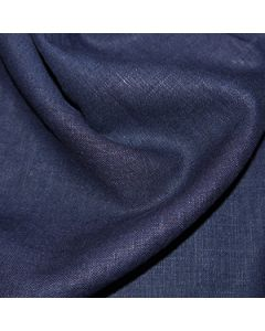 John Louden 100% Washed Linen - Navy