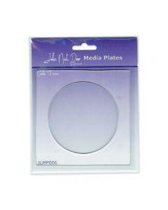 John Next Door Media Plate - Circle Frame