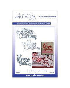 John Next Door Christmas Dies - Festive Swirl Sentiment (6pcs)
