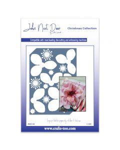 John Next Door Christmas Dies - Christmas Rose Die Plate