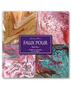 Joanna Sheen Faux Pour 8 x 8 Cardmaking Collection Pad - Pad No 1