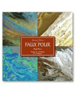 Joanna Sheen Faux Pour 8 x 8 Cardmaking Collection Pad - Pad No 2