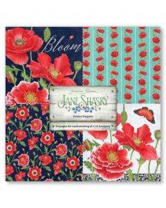Joanna Sheen Jane Shasky 8x8 Cardmaking Collection Pad - Perfect Poppies