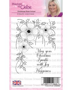 Stamps by Chloe - Christmas Rose Corner Stamps