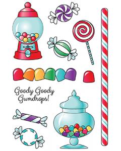LDRS 4x6 Photopolymer Stamp Set - Goody Gumdrops