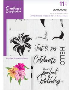 Crafter's Companion Photopolymer Stamp - Lily Bouquet