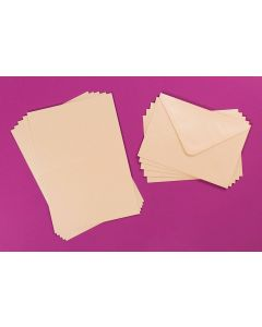 Craft UK C6 Pearlescent Cards and Envelopes - Pearl Ivory