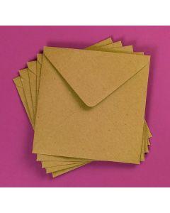 Craft UK Kraft Envelopes pack of 50 - 6x6