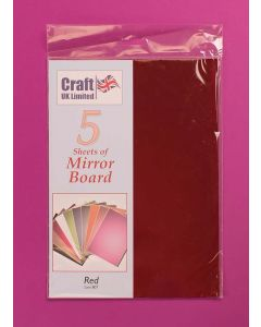 Craft UK 5 Sheets Mirror Board - Red