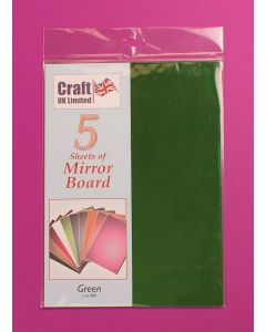 Craft UK 5 Sheets Mirror Board - Green