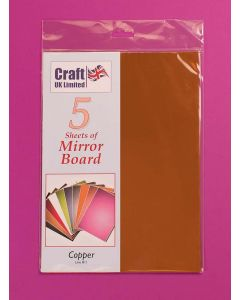 Craft UK 5 Sheets Mirror Board - Copper