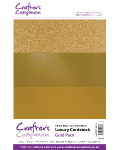 Crafter's Companion A4 Luxury Cardstock Pack - Gold