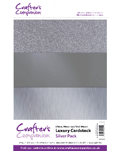 Crafter's Companion A4 Luxury Cardstock Pack - Silver